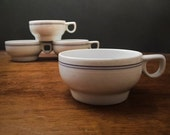 Vintage Modernist Northwest Airlines First Class Cabin Coffee Cups