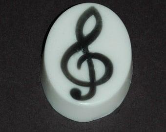 Treble Clef Soap ~ Black and White Soap ~ Music Soap ~ Musician Gift Soap