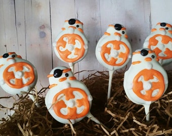 12 Star wars inspired Bb8 party favors BB8 chocolate covered oreos