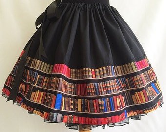 Literary clothes,Literature Skirt, Geekery Clothing, Book Skirt By ROOBY LANE