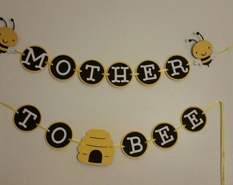 Bee themed baby shower/first birthday banner