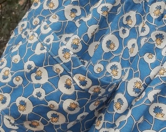Blue and Yellow Reproduction Fabric Half Apron