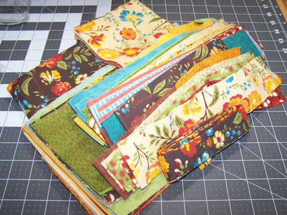 Fabric Destash, Clearance Sale, Yard Sale, Fabric Bundle,Lot of Autumn / Fall Fabrics, Busy Hands Quilts