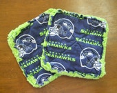 Seattle Seahawks Print - Pair of Quilted Fabric Pot Holders
