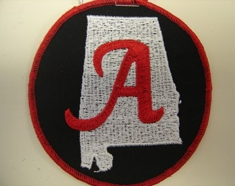 "Alabama State with an ""A"" patch"