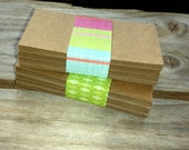 Kraft Business Cards for Thank you cards Enclosure Gift Cards, DIY Etsy Gift Tags, Hang Tags, Place Cards, Supplies, Do it yourself