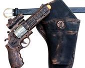 Steampunk cyber gothic toy gun-holster-belt pistol  gun laser LIGHT Victorian cosplay prop theatre COPPER tone Wholesale price