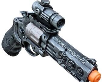 Steampunk gun cyber gothic toy  pistol  gun laser LIGHT Victorian cosplay prop theatre Zombie man SILVER tone Wholesale Price