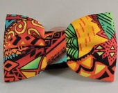 Dog Flower or Bow Tie - African Sunset