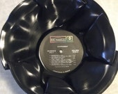 Vintage 1960s LP Upcycled Record Bowl Steppenwolf Classic Rock
