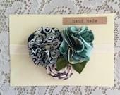 Blue Green Flower Headband