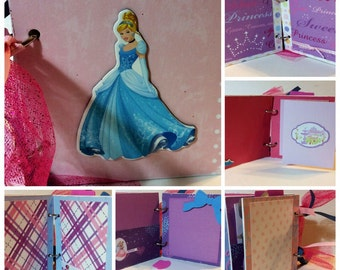 Cinderella scrapbook premade pages chipboard scrapbook mini album  cinderella, belle, disneyland vacation birthday