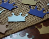 100 Crown Confetti- Little Prince- It's a boy- Birthday- Baby Shower- Custom Colors