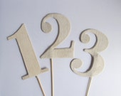 Custom Order for Laura - Table Numbers - Linen, Wedding, Rustic, 1 - 12