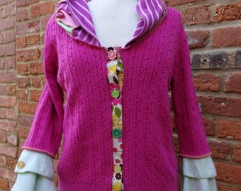 Upcycled Sweater,Whimsical Sweater,Boho Sweater,Fairy Sweater,by Nine Muses Of Crete