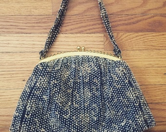 Stunning 1950's Formal Beaded Purse by Corde-Bead