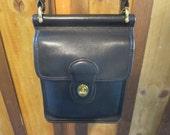 Coach Murphy Bag - Coach 9930 USA - Vintage Coach Black Leather Cross body bag