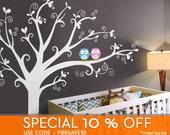 Owls & lovely tree Wall Decal - Nursery Wall Décor