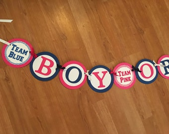 """Team Pink and Blue """"Boy or Girl"""" Banner"""