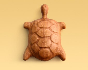 Wooden baby rattle Turtle by CZARTOY