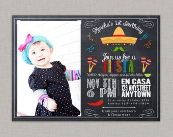 Fiesta Invitation, Fiesta Birthday Invitation, Fiesta Birthday Party, Fiesta