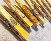 Winnie the Pooh Baby Shower Clothespins - Magnets - Classic Vintage Winnie - Set of 8 - Disney Cruise Fish Extender - Onesie Banner