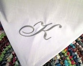 Linen or Cotton Custom Embroidered Table Runner 16x84 Burlap Custom Monogram or Initial Wedding Gift Anniversary Gift Wedding Shower Gift
