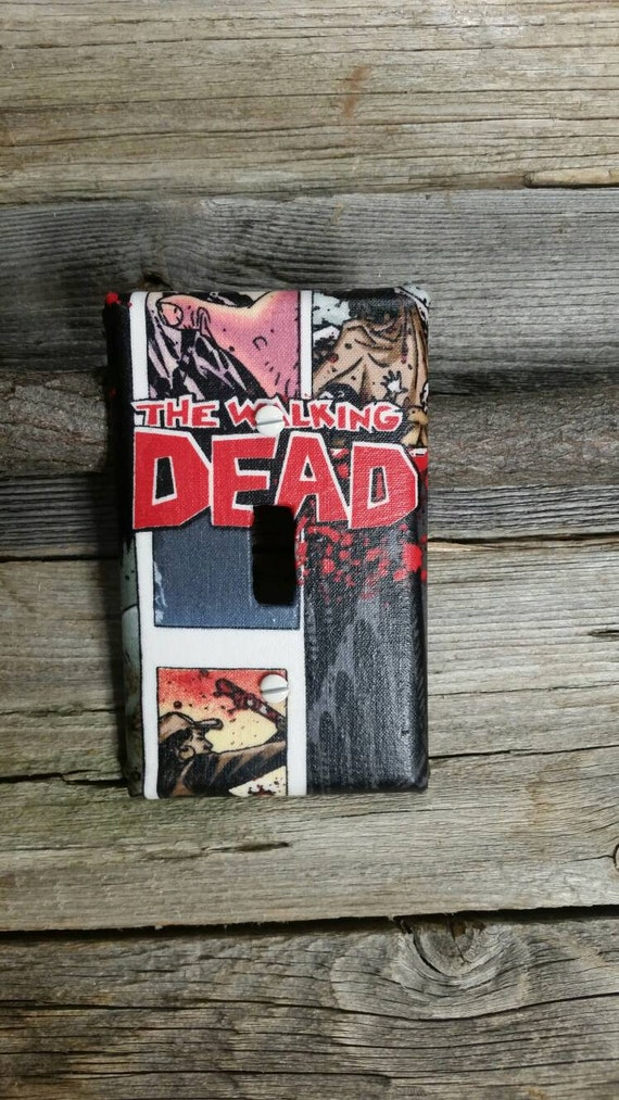 The walking dead light switch plate zombie room decor for Zombie room decor