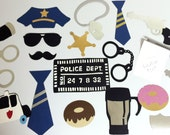 Police officer, retired police officer, law enforcement photo booth props for parties
