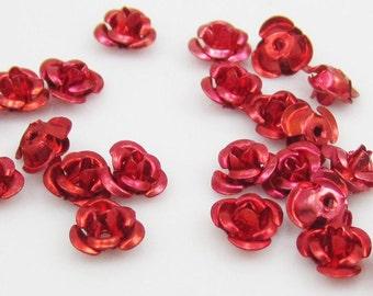 Aluminum Roses-Red-6mm-100 PCS