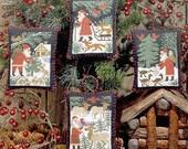 CARDSTOCK PRINTING Santa & Friends Book No. 110 Prairie Schooler cross stitch Christmas Woodland Santa Claus