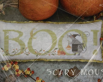 Scary Mouse cross stitch patterns by With Thy Needle & Thread Halloween October hand embroidery