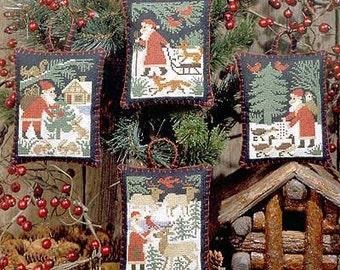 Santa & Friends Book No. 110 : Prairie Schooler cross stitch Christmas Woodland Santa Claus