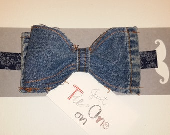 Denim Up  Cycle Bow Tie