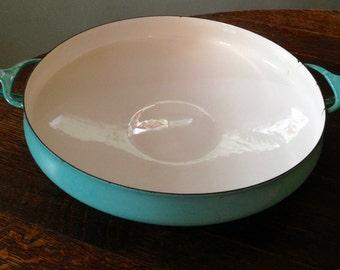 DANSK Kobenstyle Turquoise Paella Pot Enamelware MCM Danish