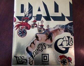 Salvador Dali - Les Diners de Gala - 70s vintage hardcover book - cookbook, art