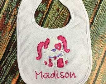 Personalized Bib with Puppy