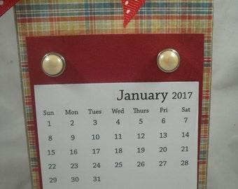 2017 Calendar, Handmade Calendar, Calendar, Desk Calendar, Teacher Gift, Coworker Gift, Stocking Stuffer