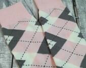 Groom Socks - Blush Pink Argyle - Mens Dress Socks - groomsmens gift - groomsman gift - wedding party gift - second anniversary - pastel