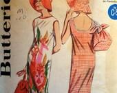 BEACH SHIFT & BAG Pattern • Butterick 3119 • Miss 16 • Beach Bag • Brimmed Beach Hat • Shift Beachdress • Vintage Pattern • WhiletheCatNaps