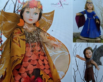 "18"" DOLL CLOTHES Pattern • Simplicity 0671 • Doll Fairy • Doll Maiden • Doll Forest Nymph • Doll Clothing • Craft Patterns • WhiletheCatNaps"