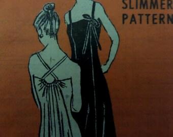 CROSS STRAP DRESS Pattern • Anne Adams 4963 • Miss 20 • Evening Dress • Bridesmaid Dress • Formal Dress • Vintage Patterns • WhiletheCatNaps