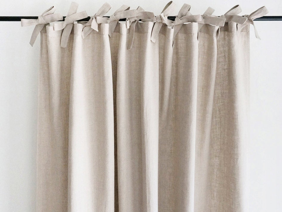 Natural Linen Curtains Custom Color Drapes Unlined Blackout