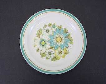 Vintage Noritake Craftone 'Blue Sky' Floral Salad Plate (E7529)