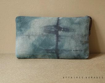 Travel pouch. bag divider. passport ticket organizer. cosmetic pouch .wallet linen  purse .. / HYPHEN