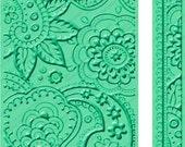 "Anna Griffin Embossing Folders 2 pc Set BIT OF PAISLEY Botanical 5"" x 7"" & Border Folder New in pkg Cuttlebug cricut provo craft Lot sizzix"