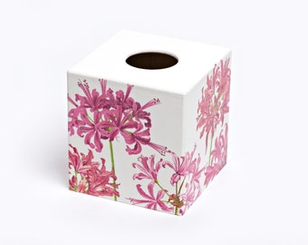 Pink Lily Nerene Tissue Box Cover wooden tissue box