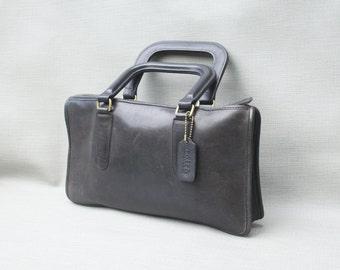 Vintage Coach Black Leather Purse