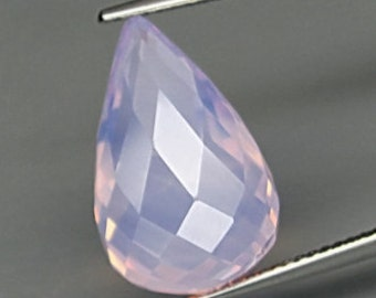 Purple Haze Amethyst, 18 x 11 MM, 11.14 Carat, Faceted Briolette , Natural Color, Nice Pink to Slight Orange Flash