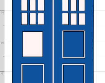 TARDIS Vinyal Art